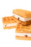 Pastry Viennese wafers isolated on the white Royalty Free Stock Images