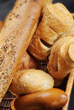 Pastry in wicker basket Royalty Free Stock Photography