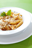 Pastsa with Cheese Stock Image