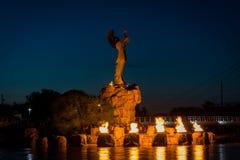 Pastuch równiny i pierścionek ogień w Wichita Kansas obraz royalty free
