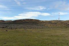 Pasture для овец в деревне Камерона tierra del fuego Стоковые Фотографии RF