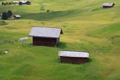Pasture Alpe di Cisles - Val Gardena Immagine Stock