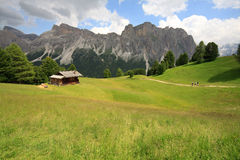 Pasture Alpe di Cisles - Val Gardena Royalty Free Stock Photos