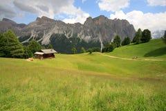 Pasture Alpe di Cisles - Val Gardena Fotografie Stock Libere da Diritti