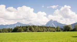 Pasture in Bavaria Stock Photo