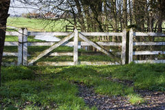 Pasture fence gate Stock Images