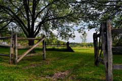 Pasture Gate Royalty Free Stock Photo