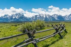 Pasture in Grand Teton National Park stock image