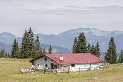 Pasture hut in Upper Bavaria Royalty Free Stock Image