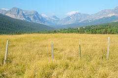 Pasture lands in Glacier National Park. Royalty Free Stock Images