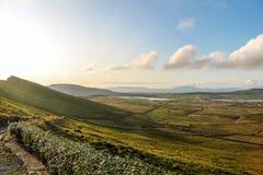 Pasture landscape near Portmagee Royalty Free Stock Image