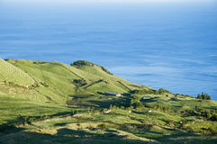 Pasture landscape of Pico island, Azores Royalty Free Stock Image