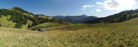 Pasture near Borisov mountain in Velka Fatra mountains in Slovakia Royalty Free Stock Photos