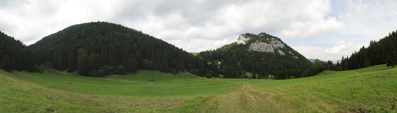 Pasture near Malino Brdo in Velka Fatra mountains in Slovakia Stock Photos