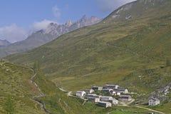 Pasture village in Austria Stock Image