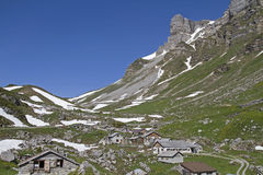 Pasture village on  Klausenpass Royalty Free Stock Photography