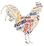 Pastured Poultry Word Cloud Royalty Free Stock Photo