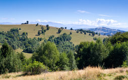 Pastures. Mountain pastures in Mehedinti county from Romania Stock Image