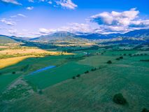 Pastures and meadows in beautiful Australian countryside. Kiewa Valley, Victoria, Australia. Pastures and meadows in beautiful Australian countryside. Kiewa Royalty Free Stock Photo