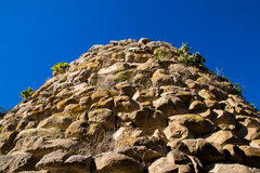 Tower of a nuraghe Sardinia. Tower of a nuraghe in Sardinia. Outside view royalty free stock photography