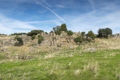 Pastwiskowe łąki w Colmenar Viejo Zdjęcie Royalty Free