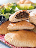 Pasty with beef. Russian pirogue Stock Images