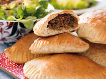 Pasty with beef stock photo