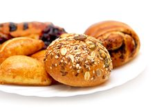 Pasty and buns royalty free stock photography