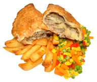 Pasty And Chips Meal Stock Photography