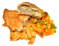 Pasty And Chips Meal Royalty Free Stock Photo