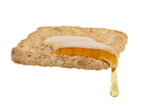 Pasty with Honey Royalty Free Stock Images
