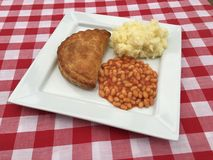 Pasty mash and beans Stock Images