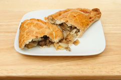 Pasty on a plate Stock Photos