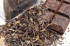 Pastylka elita herbata Puer zdjęcie stock