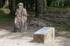 Pastylka i woodcarving w Fleury, Francuskiej wiosce niszczącej w WW, Zdjęcie Stock