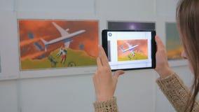 Pastylka zwiększająca rzeczywistość app Obrazy Royalty Free