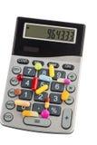 Pastylki i kalkulatorzy zdjęcie stock