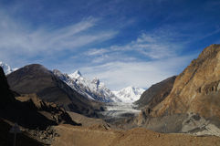 Pasu Glacier and beautiful sky in Northern Pakistan Royalty Free Stock Photos