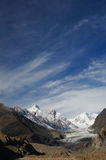 Pasu Glacier and beautiful sky in Northern  Pakistan Stock Photos