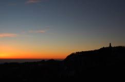 Pasubio Ossuary contour at sunrise Royalty Free Stock Images