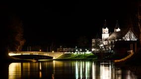 Pasvalys stad, Litauen Arkivbild
