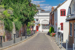 Pasy ruchu Farnham w Surrey i ulicy Zdjęcia Stock