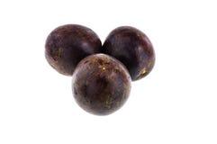 Pasyjne owoc odizolowywać na białym tle z ścinek ścieżką Obraz Royalty Free