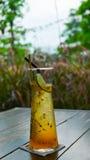 Pasyjny owocowy sok z sodą na stole Zdjęcia Royalty Free