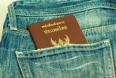 Paszport kraść od plecy kieszeni Tajlandia Fotografia Royalty Free