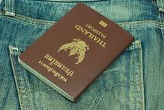 Paszport kraść od plecy kieszeni Tajlandia Fotografia Stock