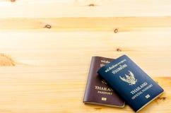 Paszport od Tajlandia na tle Obraz Royalty Free