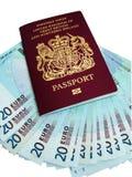 paszport pieniądze obrazy stock
