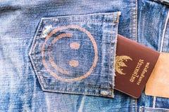 paszport tajlandzki obraz stock