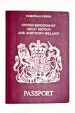paszport uk Zdjęcia Royalty Free